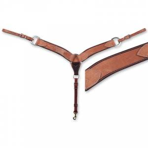 Martin Harness Leather Breastcollar- 2 3/4