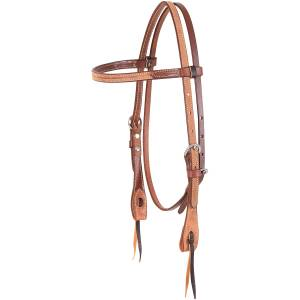Martin Roughout Browband Headstall- Natural