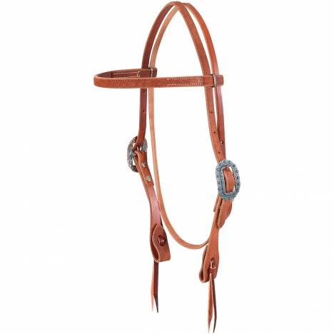 Martin Roughout Copper Patina Browband Headstall- Chestnut