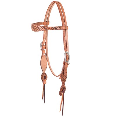 Martin Safari Laser Design Browband Headstall- Natural