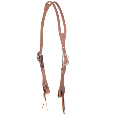 Martin Split Ear Harness Leather Headstall- Hermann Oak