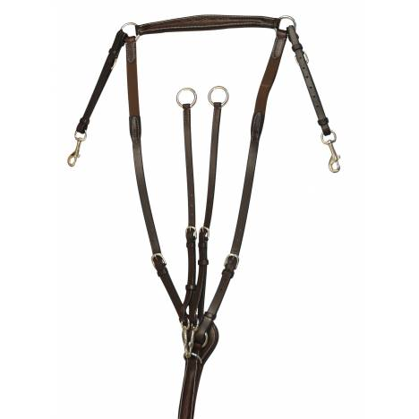 Treadstone Richtan Plus Raised Fancy Stitched Breastplate w Elastic Insert is an attractive, raised leather breastplate with pad