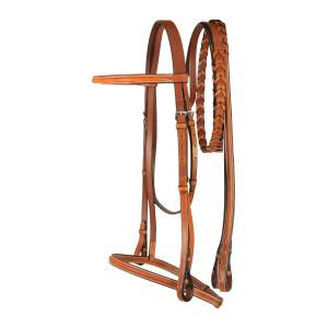 Treadstone Richtan Plus Raised Bridle with Flat Laced Reins