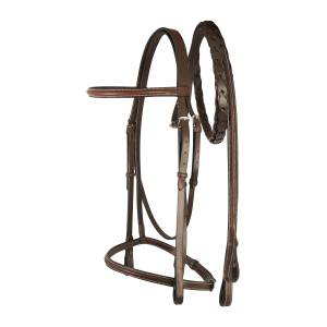 Treadstone Richtan Plus Raised Bridle with Raised Laced Reins