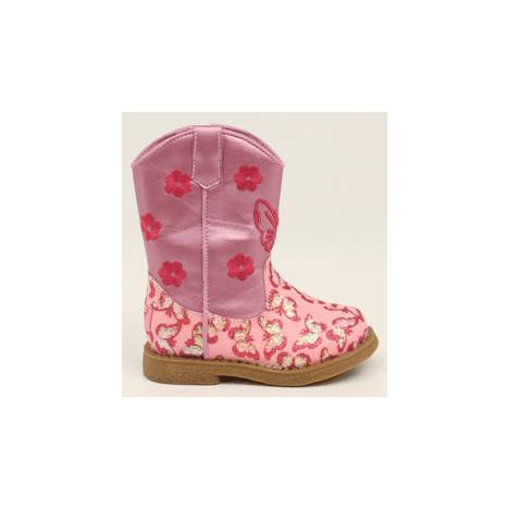 Blazin Roxx Lil Pecos Butterfly Western Boot - Toddler Girls, Pink