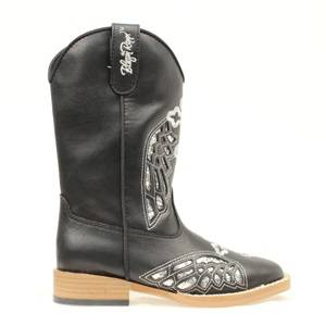 Blazin Roxx Gracie Wing & Cross Western Boot - Girls, Black