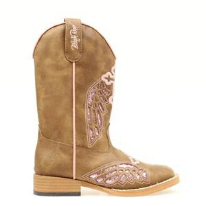 Blazin Roxx Gracie Wing & Cross Western Boot - Girls, Brown