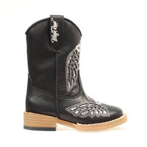 Blazin Roxx Gracie Wing & Cross Western Boot - Toddler Girls, Black