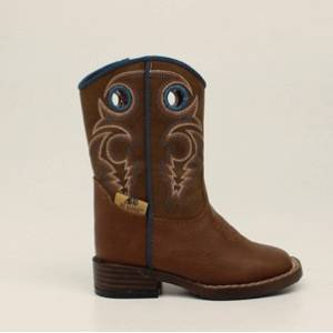 DBL Barrel Dylan Zip Western Boot - Boys, Turquoise/Rust