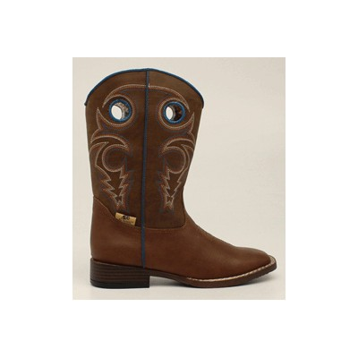 DBL Barrel Youth Dylan Western Boot - Youth Boys, Turquoise/Rust