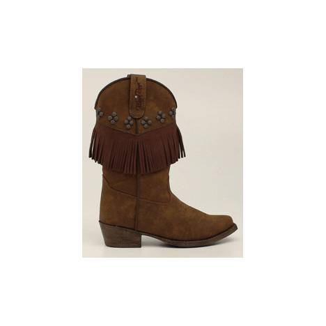 Blazin Roxx Annabelle Fringed Snip Toe Western Boot - Youth Girls, Brown