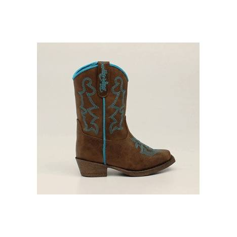 Blazin Roxx Zip Caroline Snip Toe Western Boot - Girls - Brown