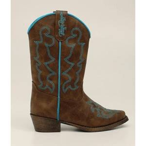 Blazin Roxx Caroline Snip Toe Western Boot - Girls, Brown