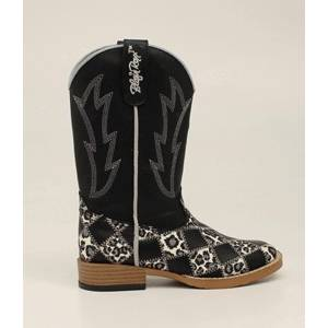 Blazin Roxx Miley Patchwork Square Toe Western Boot - Girls, Black