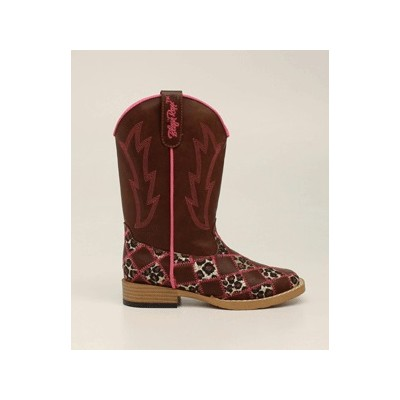 Blazin Roxx Miley Patchwork Square Toe Western Boot - Girls, Brown
