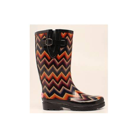 Blazin Roxx Chandra Chevron Round Toe Rain Boot - Ladies, Multi