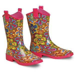 Blazin Roxx Presley Square Toe Rain Boot - Girls, Multi