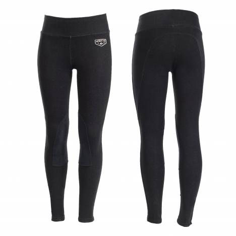 HorZe Spirit Knee Patch Active Tights - Kids - Black