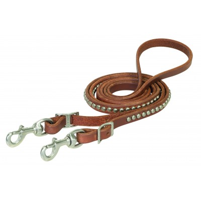 Weaver Russet Harness Leather Spotted Roper Rein
