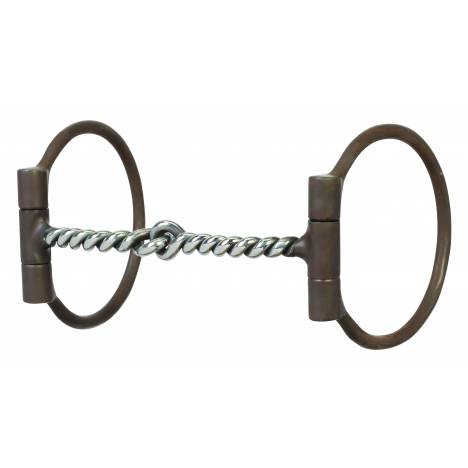 Weaver All Purpose Offset Dee Bit with Sweet Iron Twisted Wire Snaffle Mouth