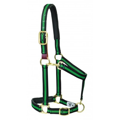 Weaver Striped Padded Breakaway Adjustable Chin and Throat Snap Halter