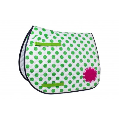 Lettia Preppy All Purpose Saddle Pad - Green Dot