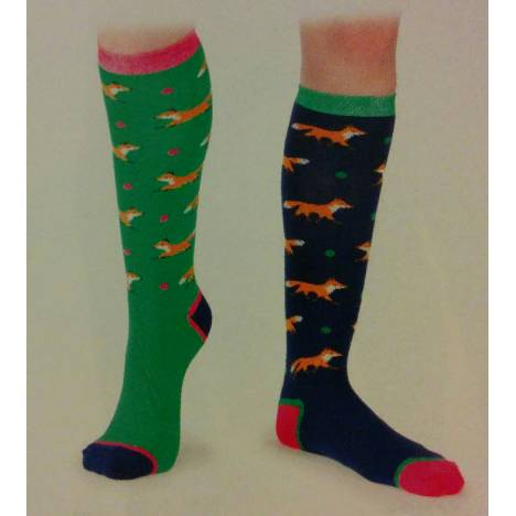 Shires Ladies Everyday Socks - Foxes