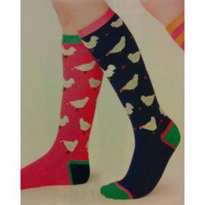 Shires Ladies Everyday Socks - Chickens