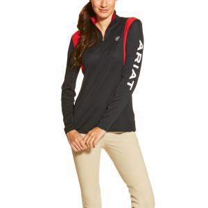 Ariat Team Sunstopper 1/4 Zip - Ladies - Navy