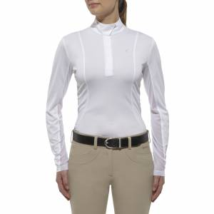 Ariat Ladies Sunstopper Show Top - White