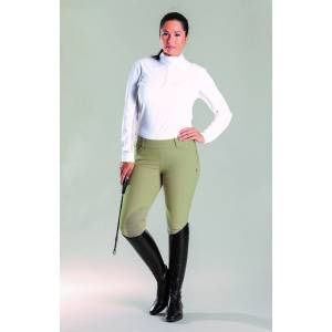 Devon Aire Ladies Signature Side Zip Knee Patch Breech