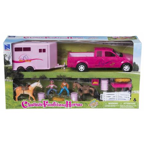 Pink Truck & Small Trailer Set