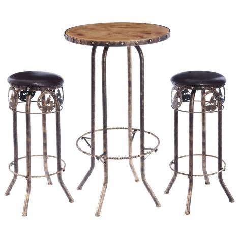Tough-1 Three Piece Bar Stool/Table-Quarter Horse