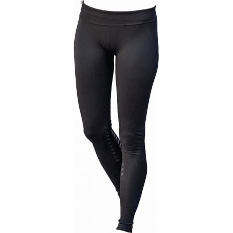 Goode Rider Designer Seamless Knee Patch Tights - Ladies