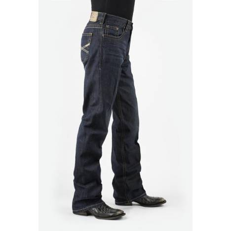Stetson Collection Modern Fit Very Dark Wash Jean- Men's