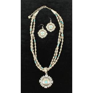 Blazin Roxx 3 Strand Medallion Jewelry Set