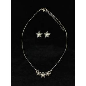 Blazin Roxx Beaded Edge Star  Jewelry Set