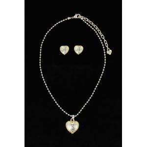 Blazin Roxx Beaded Heart  Jewelry Set