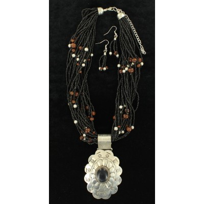 Blazin Roxx Beaded Flower  Jewelry Set
