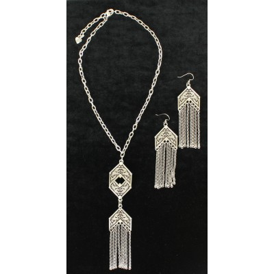 Blazin Roxx Chain Fringe  Jewelry Set