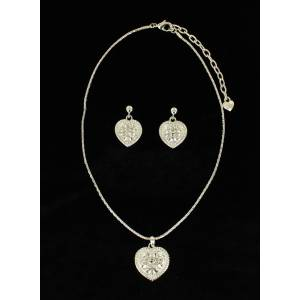 Blazin Roxx Crystal Heart  Jewelry Set