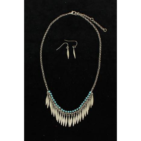 Blazin Roxx Feather Fringe Jewelry Set