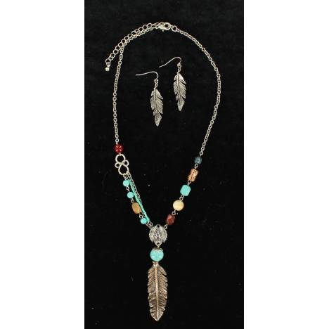 Blazin Roxx Feather Jewelry Set