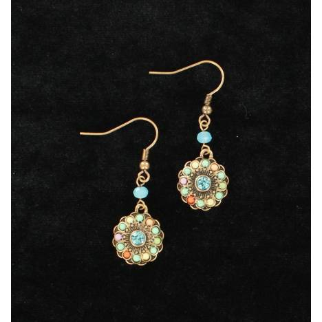 Blazin Roxx Small Round Flower Earrings