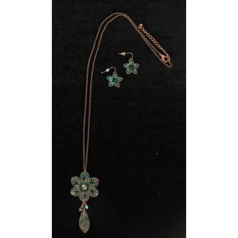 Blazin Roxx X-Large Flower Chain Jewelry Set