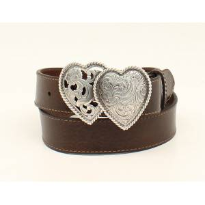 Ariat Plain Belt With Double Heart Buckle- Ladies