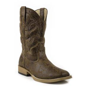 Roper Scout Faux Leather Boot - Mens - Tan Vintage