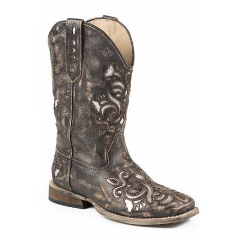 Roper Belle Wide Square Toe Western Boot- Girl's
