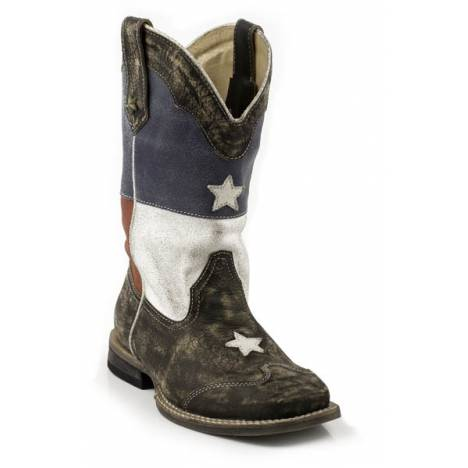 Roper Texas Star Flag Square Toe Western Boot- Kid's