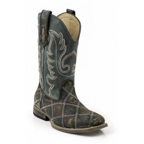 Roper Belle Wide Square Toe Western Boot- Kid's